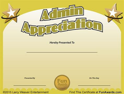 funny award ideas administrative assistant day