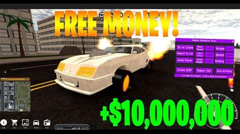 roblox vehicle simulator money hack youtube