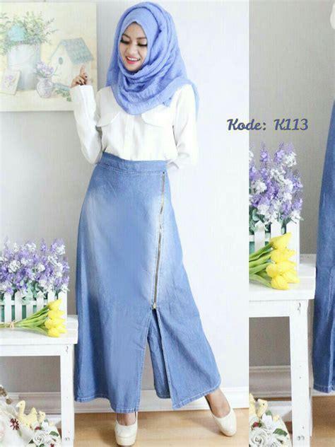 rok celana ziper  baju hijab style ootd