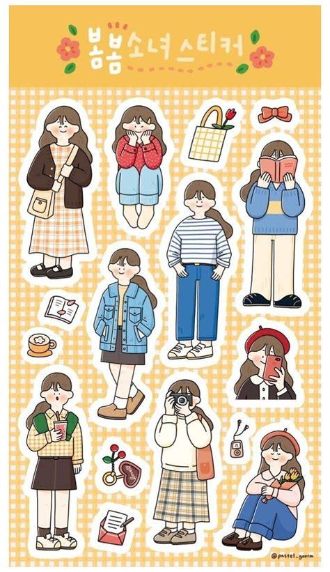 stiker orang kawaii stickers printable korean