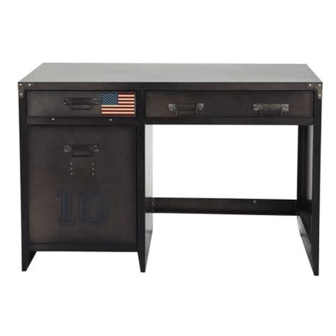 lade per scrivania scrivania stile industriale met 1 deurtje en 2 lades in