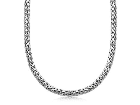 sterling silver wedding bands wheat chain 39 s necklace in oxidized sterling silver