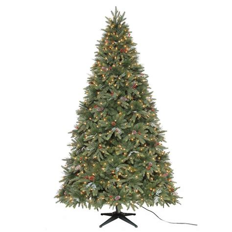 martha stewart living 7 5 ft andes fir quick set artificial christmas tree with 750 clear