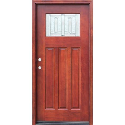 staining wood doors pacific entries 36 in x 80 in craftsman 1 lite stained
