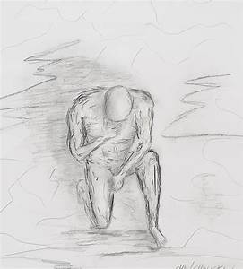 Thinking Man Drawing by Miroslaw Chelchowski