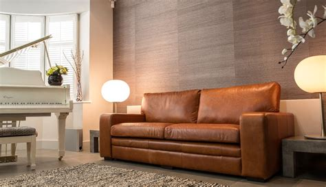 tan leather sofas   living space styles