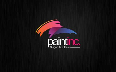 creative pain brush logo template
