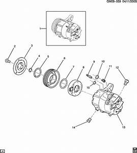2008 Chevrolet Impala Clutch Kit  Air Conditioning  A  C