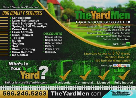Elegant Lawn Care Flyer Template Free Business Marketing