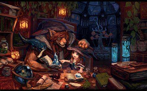 witch magic fantasy art books anthros wizard