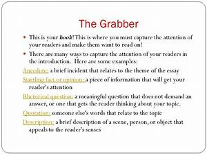 Essay Attention Grabbers Definition Essay Paper Essay Attention  Persuasive Essay Attention Grabbers