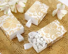 wedding cake serving set quot treasures quot gold damask favor box set of 24