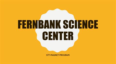scientific tools techniques stt program fernbank science