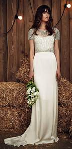 gallery jenny packham spring 2017 beaded cap sleeves With beaded cap sleeve wedding dress