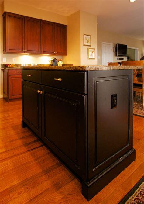 kitchen island cherry antiqued black island with cherry kitchen cabinets