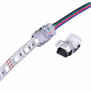 5pcs Rgb Led Strip Connector 4 Pin 5050 10mm Colorful Led