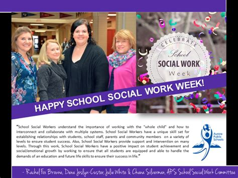 happy national school social work week aurora public schools