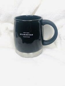 15% off sitewide use code: Starbucks 14oz 2007 Coffee Mug / Cup Black Ceramic with Stainless Steel. | eBay