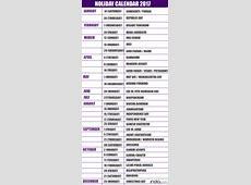 Calendar 2017 With Holidays India 2018 calendar with