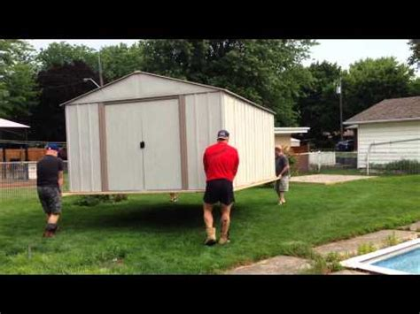 how to move a shed how to shed moving demonstration in ohio doovi