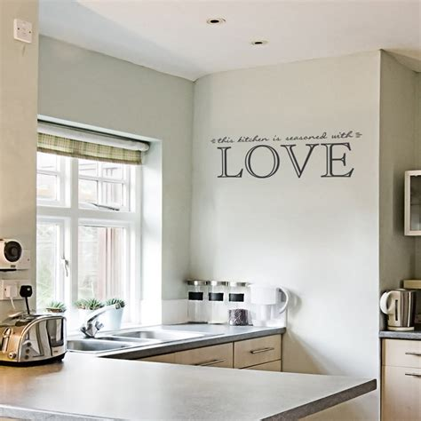 kitchen  seasoned  love wall quote decal