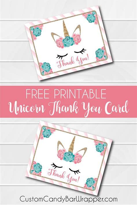 printable unicorn   cards announce