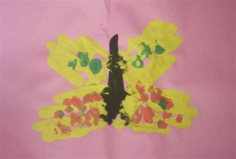 butterfly handprint painting