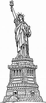 Liberty Statue Coloring Preschool sketch template