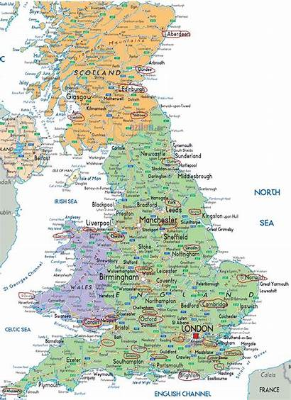 Britain Travel Map Ad Ireland Attractions Exchange