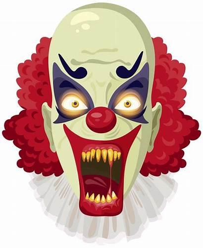 Clown Scary Clipart Halloween Transparent Clip