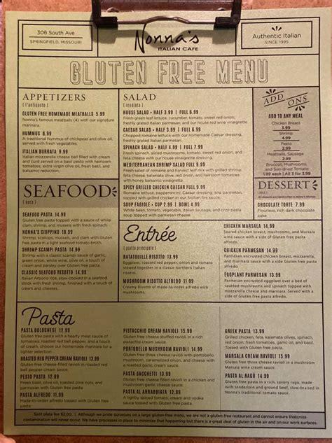 nonnas italian cafe home springfield missouri menu
