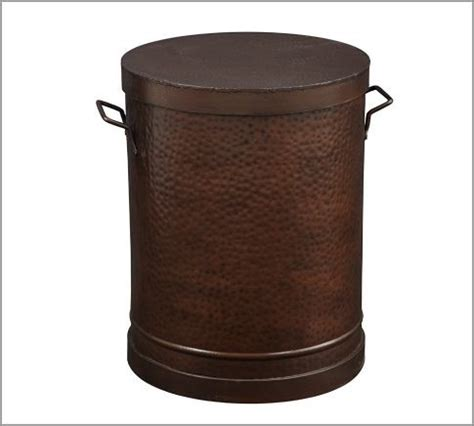 metal drum side table rawson metal drum accent table contemporary side