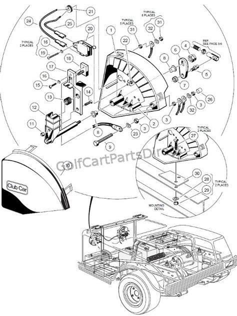 1988 Club Car Part Diagram by Wiper Switch 36v V Glide Club Car Parts Accessories