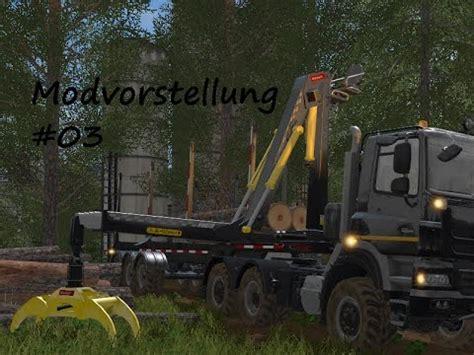 rückewagen mit kran ls 17 holztrailer mit kran 003 modvorstellung
