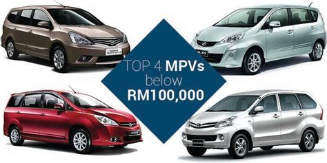 Top 4 Mpvs That You Can Buy Below Rm100,000