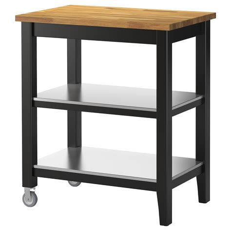 ikea stenstorp kitchen island stenstorp kitchen trolley black brown oak 79x51x90 cm ikea