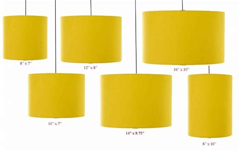 yellow drum l shade mustard yellow drum cylinder lshade 20cm 25cm 30cm 35cm