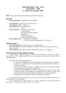 Exemple De Procès Verbal D Association Changement Bureau by Compte Rendu R 233 Union D Organisation Telethon 10 11 09