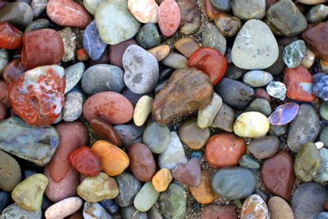 Beaches with Colored Rocks