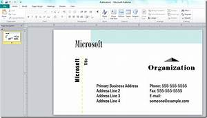 How to make a business card with microsoft publisher for Business card template publisher
