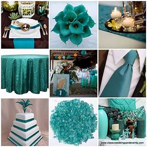 classic weddings and events teal wedding ideas With teal wedding theme ideas
