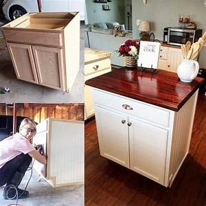 Last, Year, I, Made, This, Beautiful, Kitchen, Island, From, A, 100, Base, Cabinet, From, Lowes, Check, Out, My