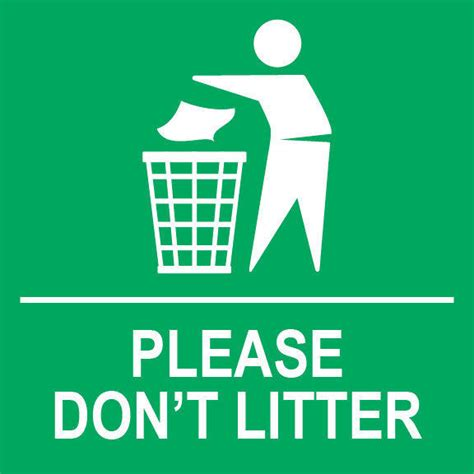 "Please Don't Litter Sign 8"" X 8"" Ebay"