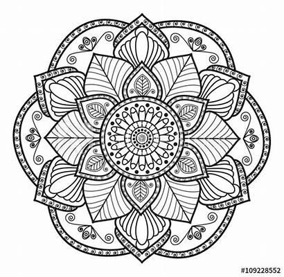Mandala Coloring Colorare Mandalas Nero Bianco Disegni
