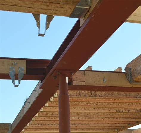 compound steel beam connection offset heights steel