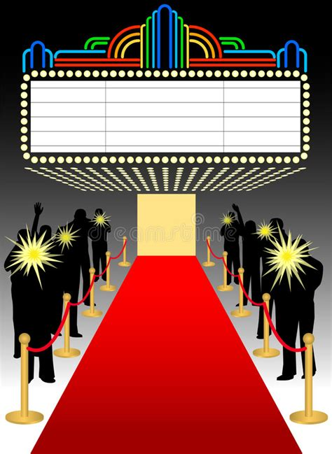 Red Carpet Premier Marquee/eps Stock Illustration - Image