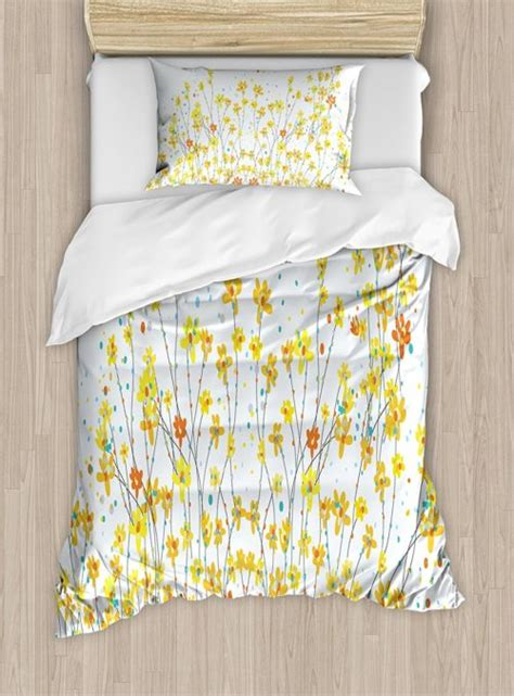 touch of yellow floral bedding sets comforter set duvet