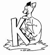 Kangaroo Coloring Pages Printable Animal Place Animalplace sketch template