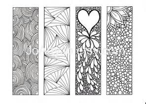 bookmarks to color diy zentangle inspired printable digital