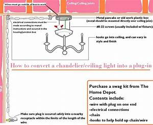 How To Convert A Chandelier Into A Plug